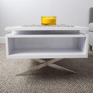 Seraphina White Lift Top Rectangular Coffee Table