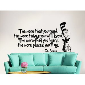 Dr Seuss The More That You Read Decal Quote Sayings Wall Decal Part 97