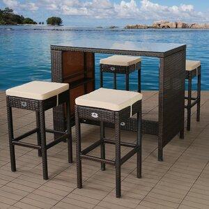 4-Sitzer Bartisch-Set mit Polster von Home Etc