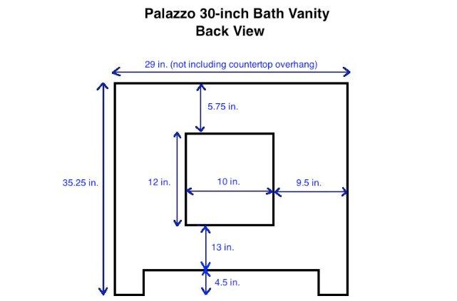 "Palazzo 60-Inch Double Bathroom Vanity kbc palazzo 30"" single bathroom vanity set & reviews | wayfair"