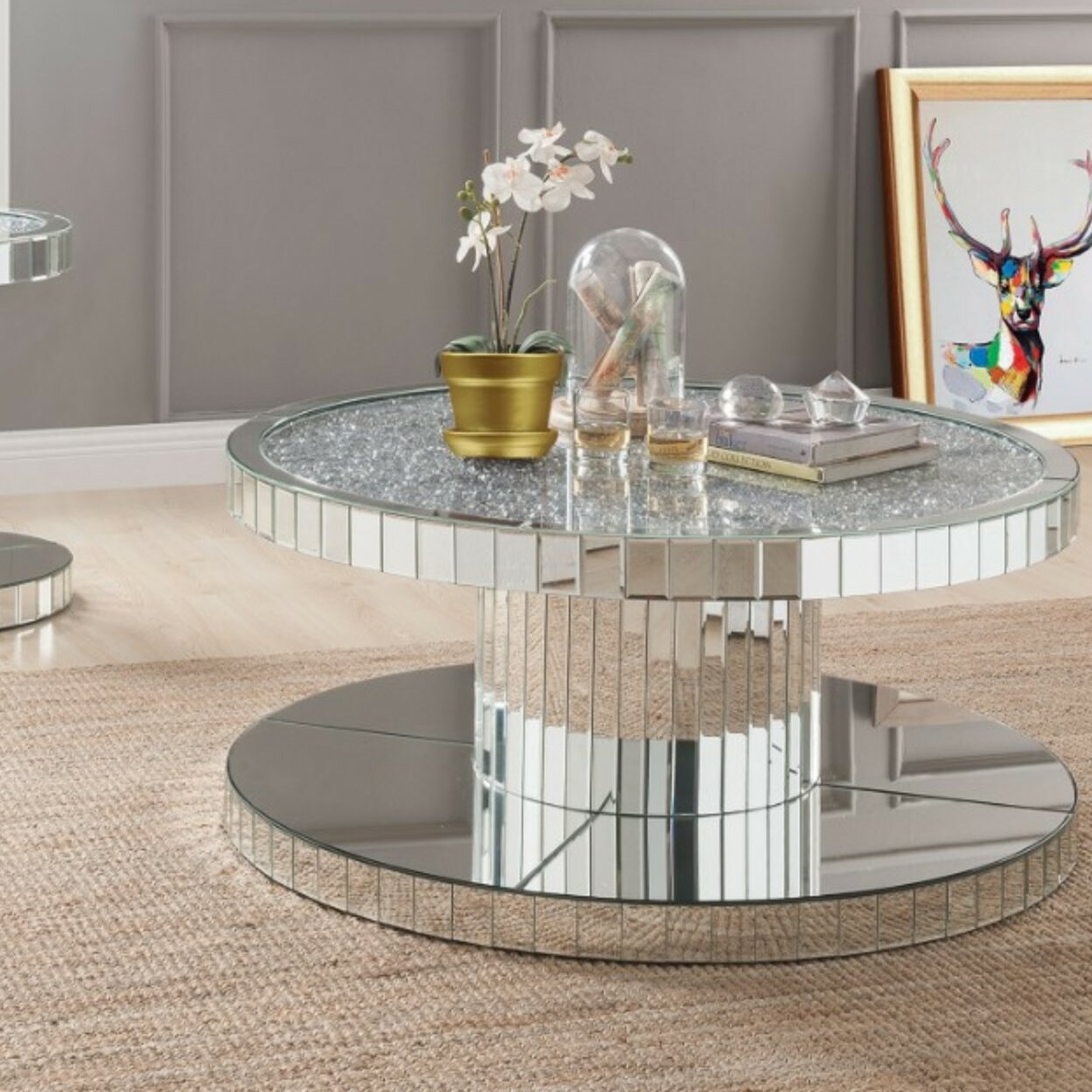 All Mirror Coffee Table.Shay Modern Round Mirror Coffee Table