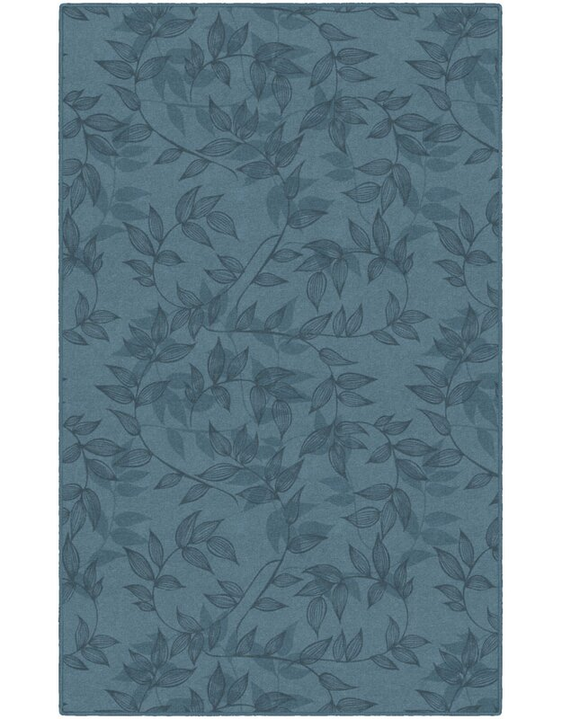 Winston Porter Roxana Floral Blue Area Rug, Size: Rectangle 76 x 10