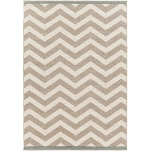 Breana Ivory/Taupe Indoor/Outdoor Area Rug