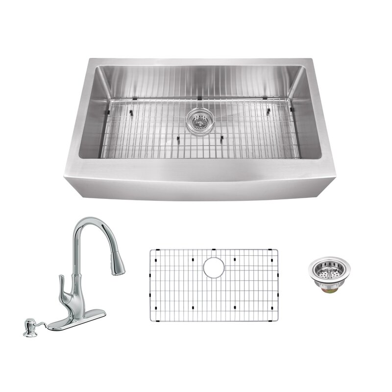 Soleil 36 L X 2075 W Apron Front Single Bowl Undermount Stainless
