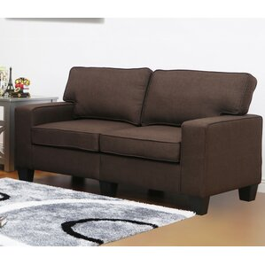 Jordan Linen Modern Living Room Loveseat by Living In Style
