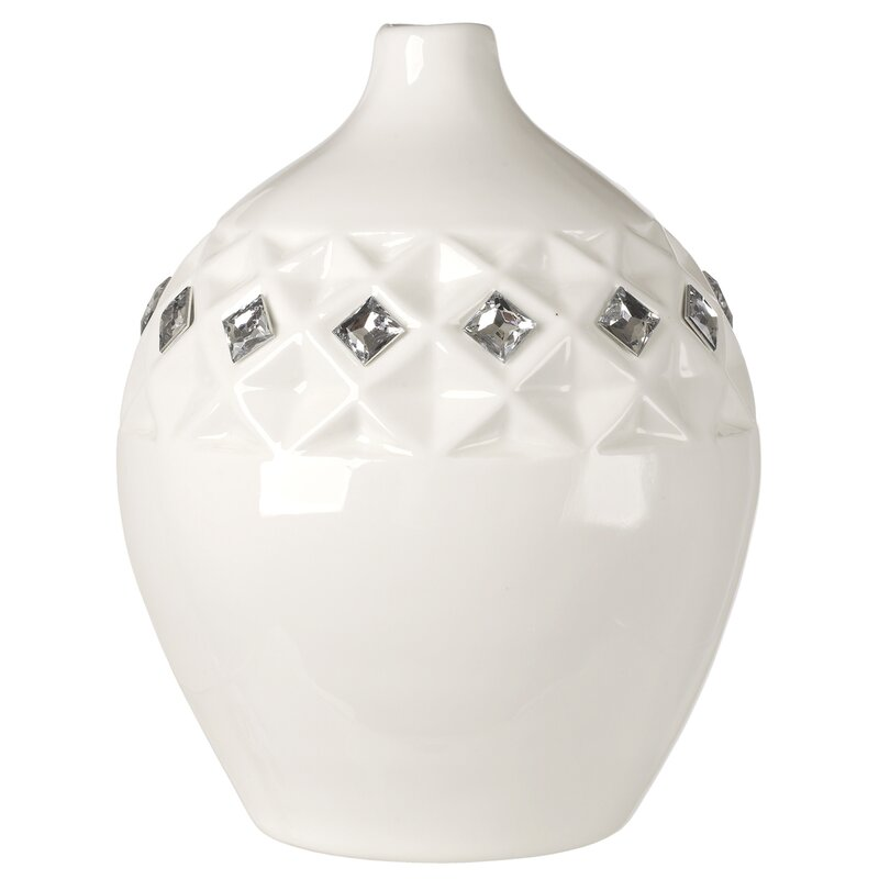 5th Ave Store Italian Bone China Embedded With Swarovski Crystals
