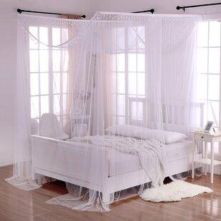 Kaneshiro Crystal Sheer Panel Bed Canopy & Bed Canopies Youu0027ll Love