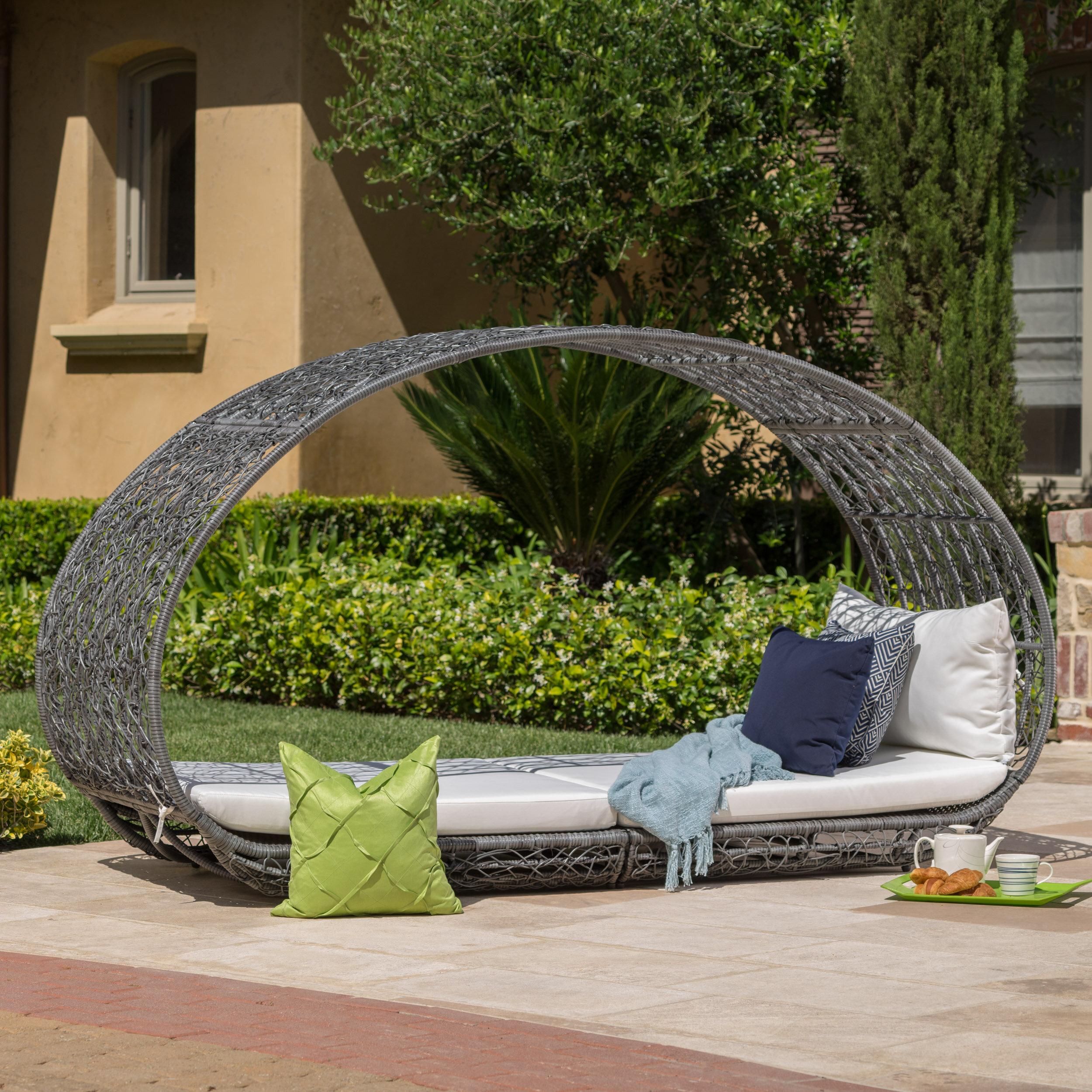 Mistana lavina outdoor wicker daybed reviews wayfair