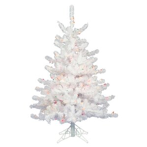 3 white artificial christmas tree with 45 led warm white lights - Artificial Christmas Trees With Led Lights