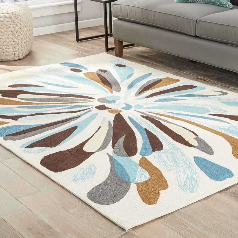 Blue Brown Cream Area Rug Uniquely Modern Rugs