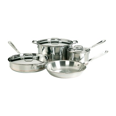 Copper Core 7 Piece Cookware Set All-Clad