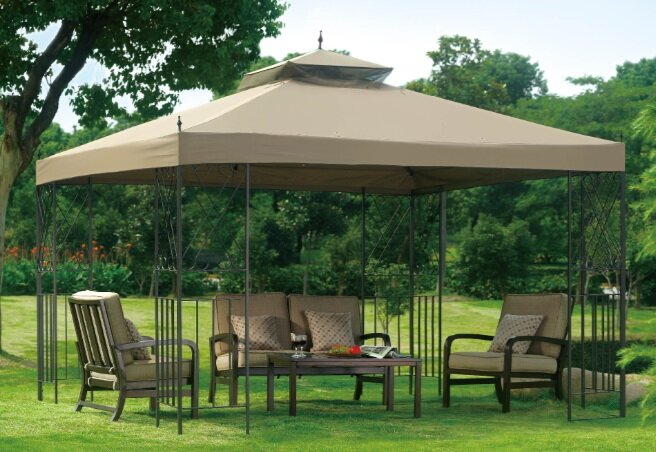 Replacement Canopy for Classic Scroll Gazebo & Sunjoy Replacement Canopy for Classic Scroll Gazebo u0026 Reviews ...