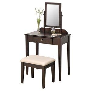 espresso makeup vanity set. Mooney Vanity Set with Mirror  Black Espresso White Modern Makeup Vanities AllModern