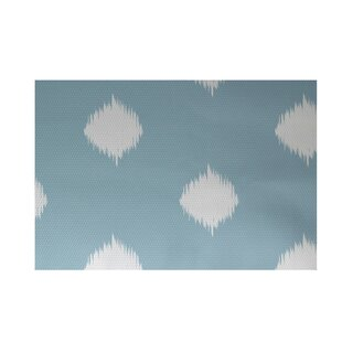 Urbina Decorative Holiday Ikat Print Light Blue Indoor/Outdoor Area Rug By Wrought Studio