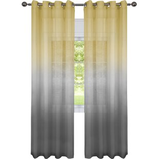 Modern Contemporary Grey Ombre Curtains