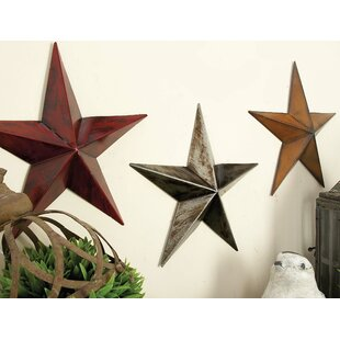 Charming Metal Star Wall Décor (Set Of 3)