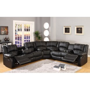 Black Faux Leather Sectional Sofas Youll Love Wayfair