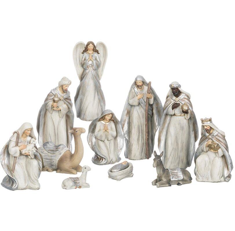 Yard nativity set wayfair 11 piece nativity set aloadofball Gallery