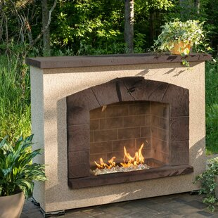 Outdoor fireplaces youll love wayfair stone arch concrete propane outdoor fireplace teraionfo