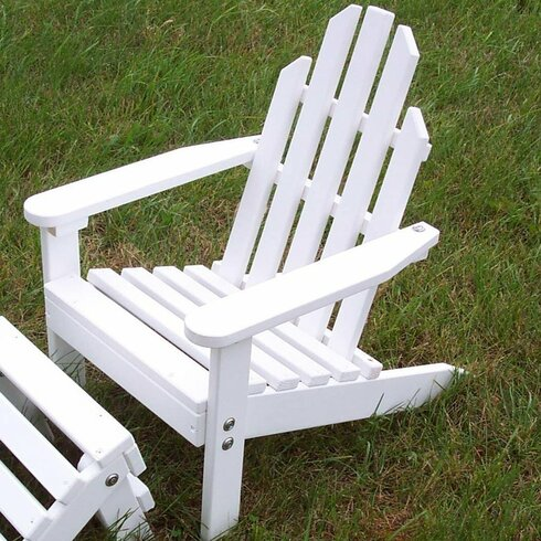Prairie Leisure Design Kiddie Wood Adirondack Chair Wayfair