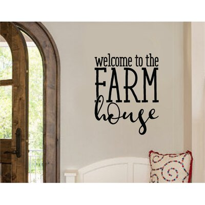 Edinburgh welcome to the farm house vinyl wall decal