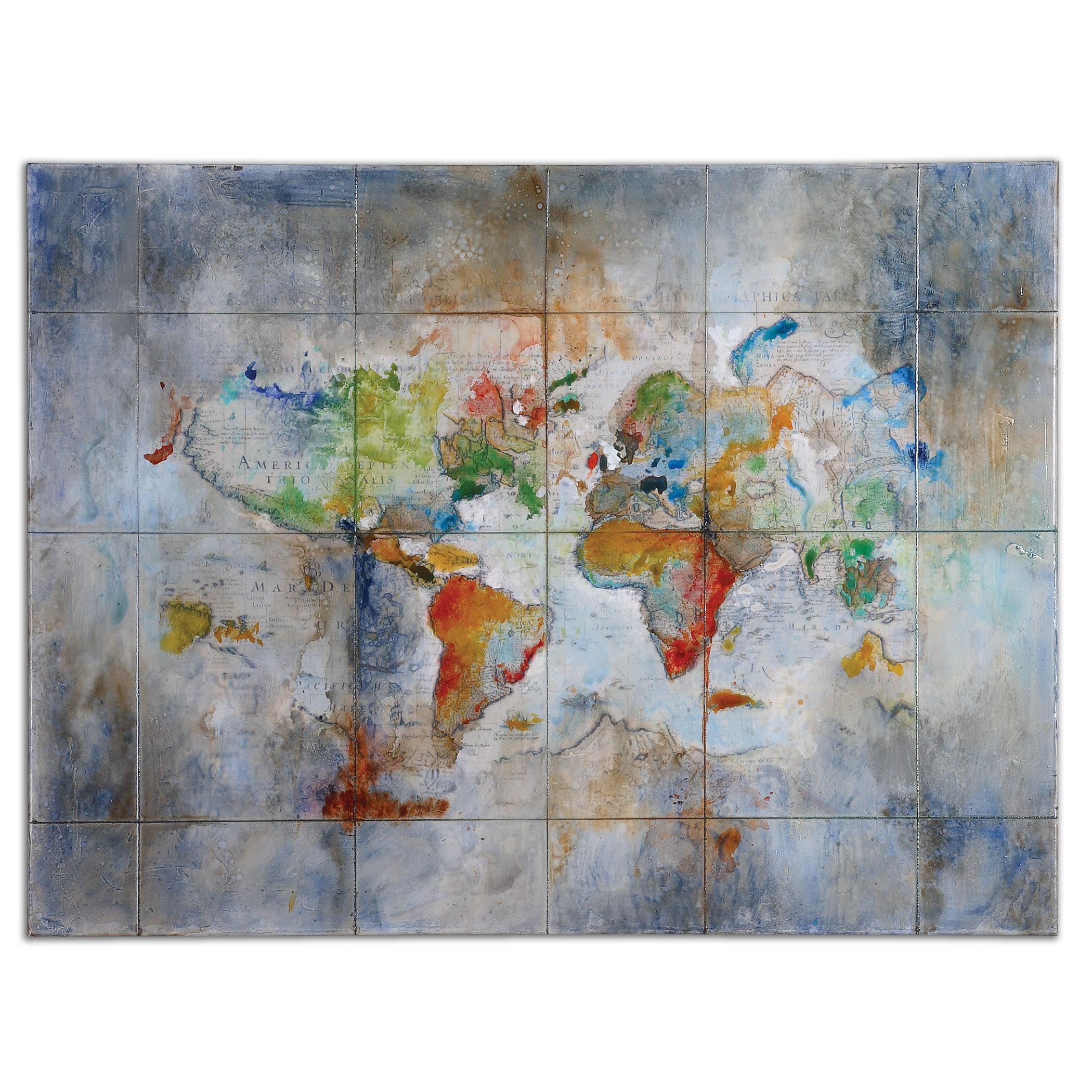 latitude run world of color painting on canvas reviews wayfair