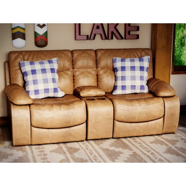 Loon Peak El Capitan Double Motion Console Reclining Sofa | Wayfair