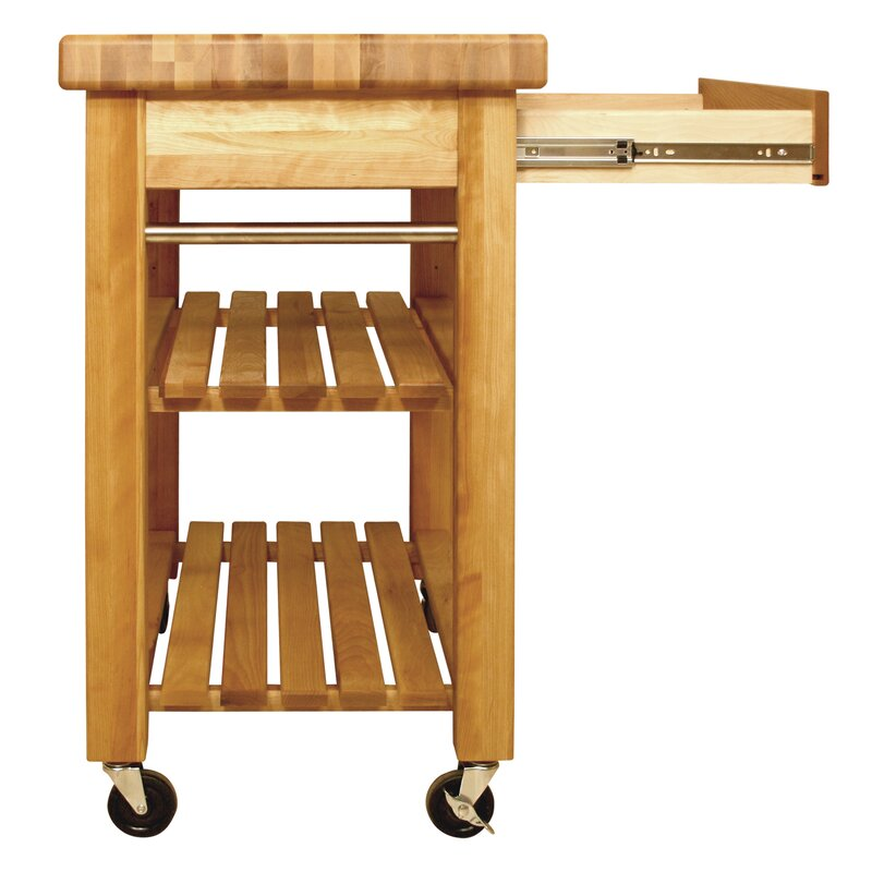 Catskill Craftsmen French Country Kitchen Cart with Butcher Block Top & Reviews Wayfair