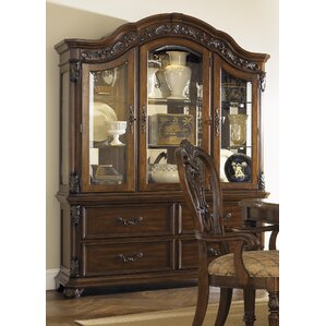 Elosie Lighted China Cabinet by World Men..