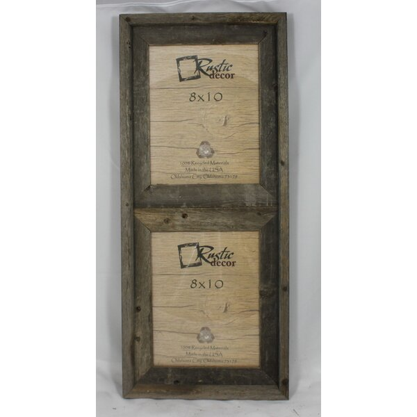 Rusticdecor Barn Wood Vertical 2 Opening Collage Picture Frame Wayfair