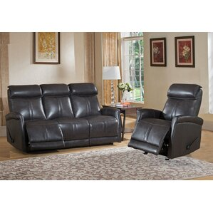 Mosby 2 Piece Leather Living Room Set by Amax