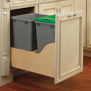 Wood Kitchen Trash Can Cabinet | Wayfair