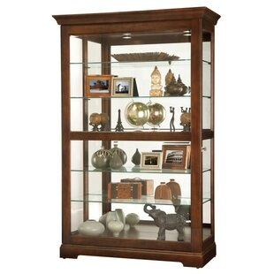Khalid Lighted Curio Cabinet