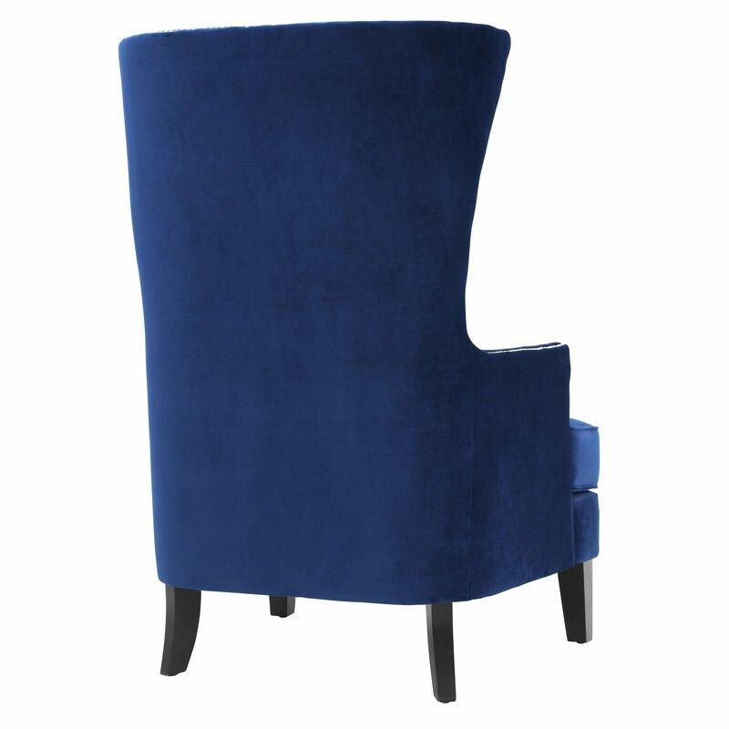 Perfect Kyleigh Velvet Wingback Chair