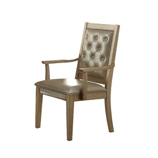 Isai Upholstered Dining Arm Chair (Set of 2)