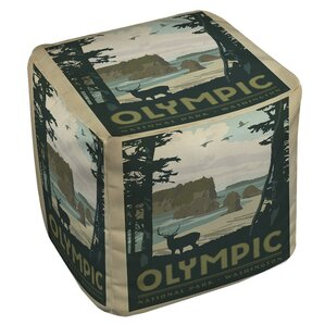 Olympic Ottoman by Manual Woodworkers & Weav..