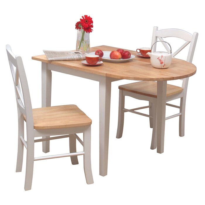 3 Piece Dining Room Set: August Grove Prudhomme 3 Piece Dining Set & Reviews