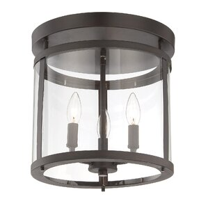 lakefront 3light semiflush mount - Semi Flush Mount Lighting