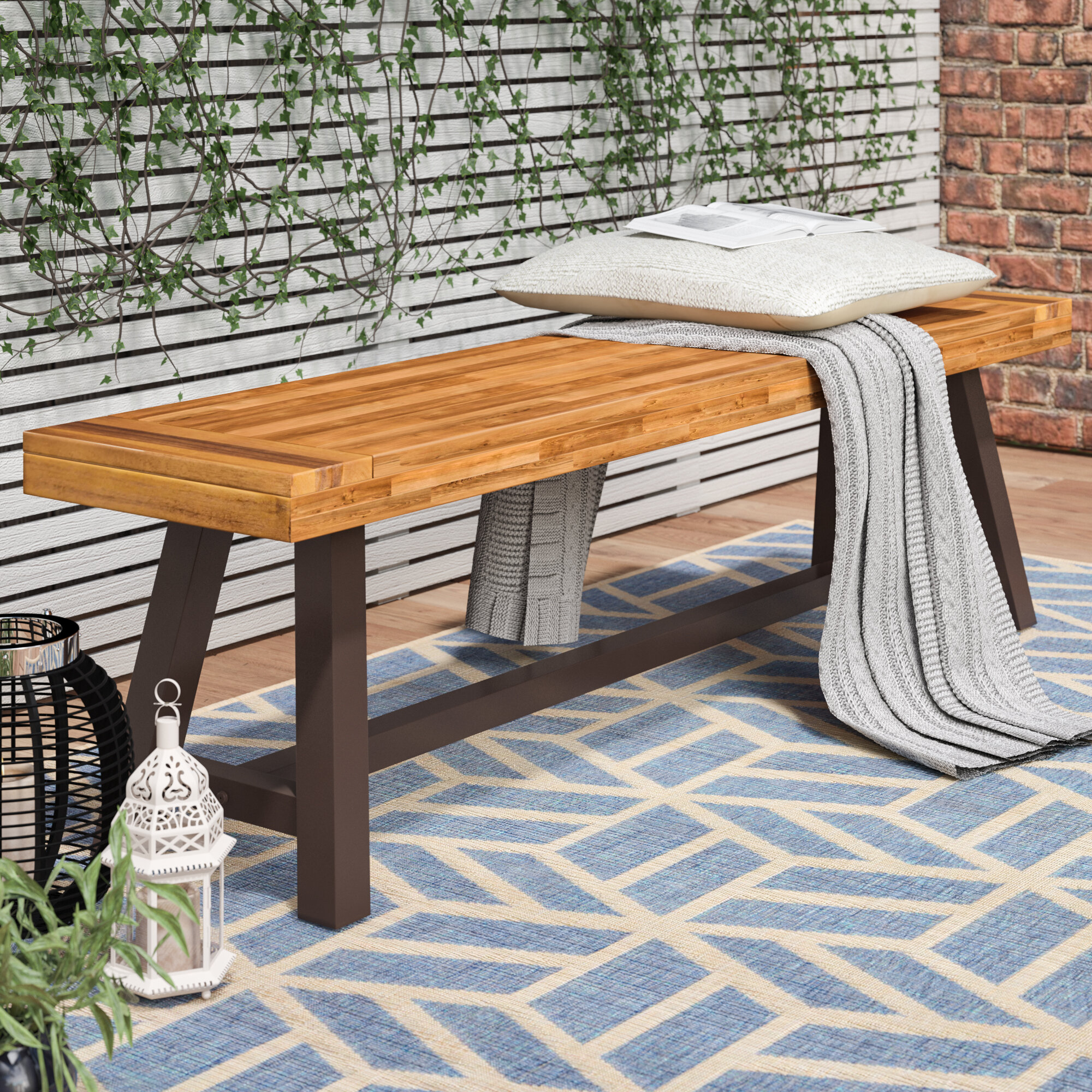 bench hardwood winsome solid garden tiles patio table benches set floor picnic and wooden diy looking outdoor for folding anadolukardiyolderg with ideas good separate