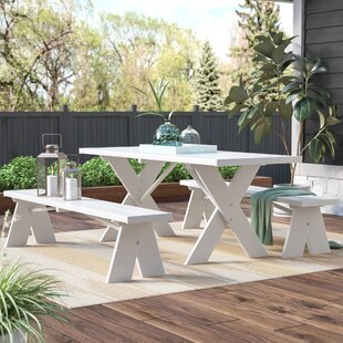 Wyona Plastic Resin Picnic Table With Benches