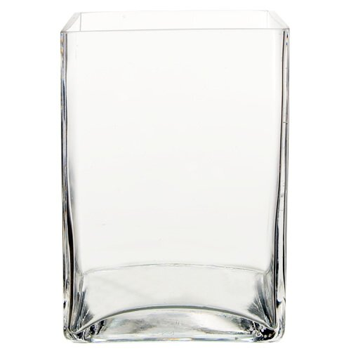 Three Posts Clear Glass Square Vase Reviews Wayfair