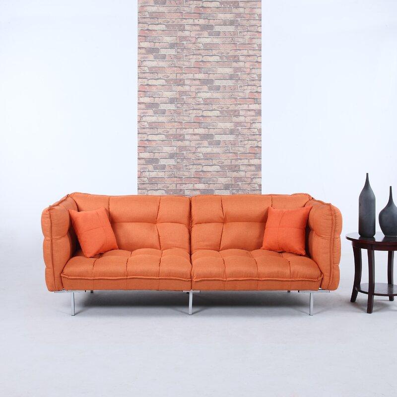 Modern Sleeper Sofas: Madison Home USA Modern Plush Tufted Linen Splitback