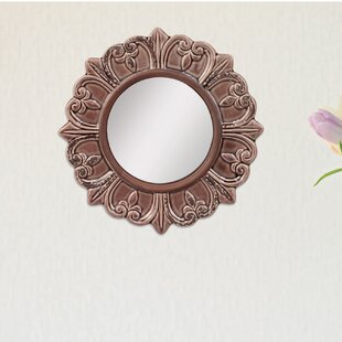 Round Distressed Wall Mirror