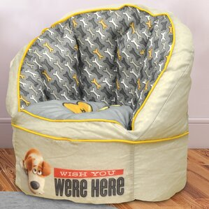 Character Toddler Kids Bean Bag Chair in Secret Life of Pets by Idea Nuova