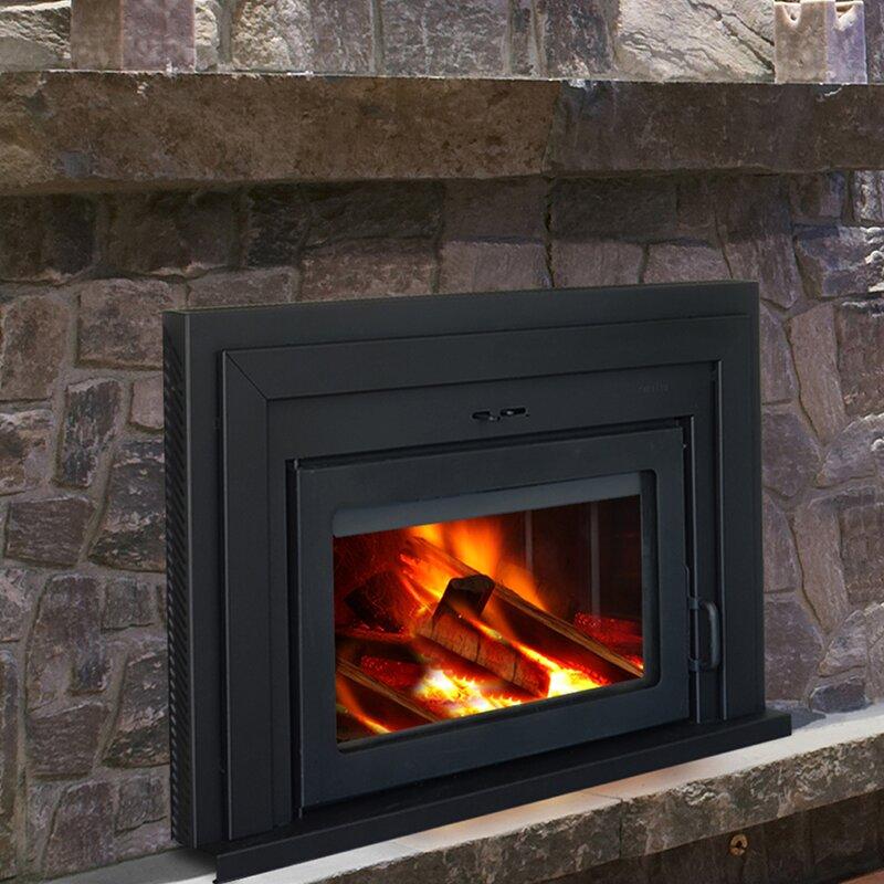 Supreme Fireplaces Inc Fusion Wall Mount Wood Burning Fireplace