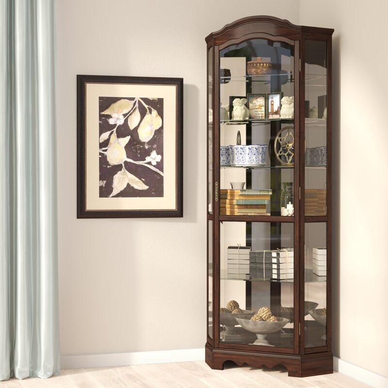 Attrayant Ferron Lighted Corner Curio Cabinet