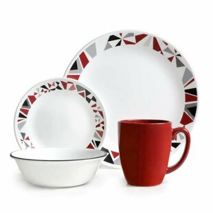 Livingware 16 Piece Dinnerware Set Service for 4  sc 1 st  Wayfair & Corelle Dinnerware