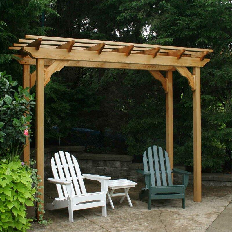 Creekvine Designs Cedar New Dawn 14 Ft. W x 4 Ft. D Solid Wood Pergola