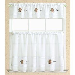 Bon Spring Owl Kitchen Curtain