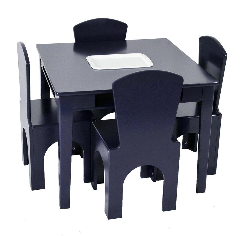 Ensemble 5 pièces de table carrée et chaises pour enfant